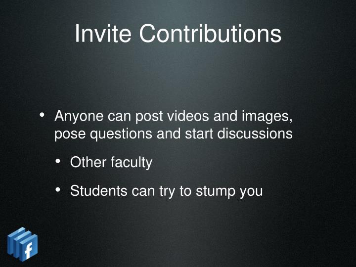 Invite Contributions