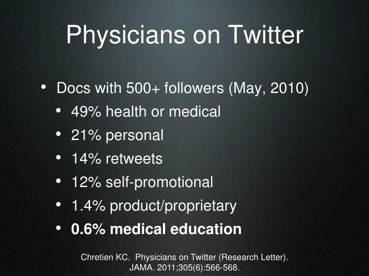Physicians on Twitter