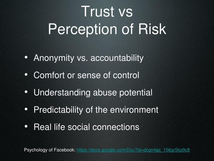 Trust vs