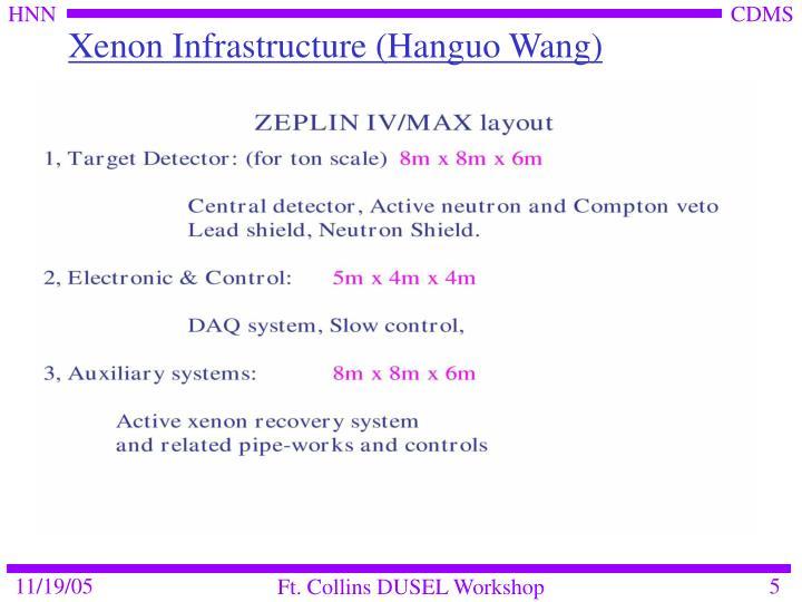 Xenon Infrastructure (Hanguo Wang)