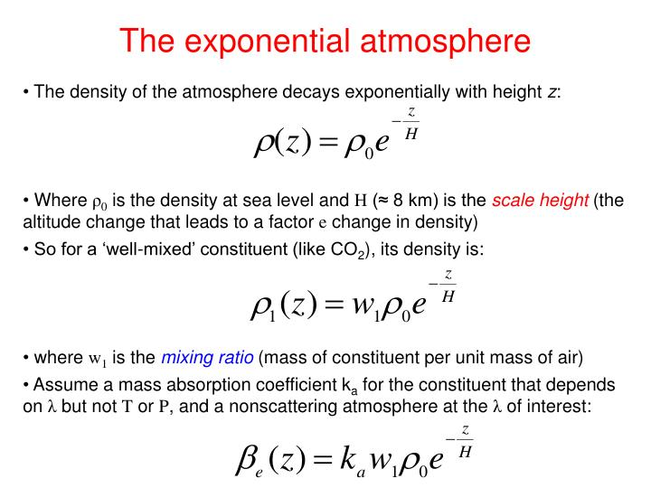 The exponential atmosphere