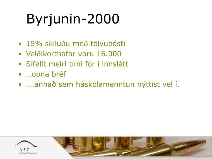 Byrjunin-2000