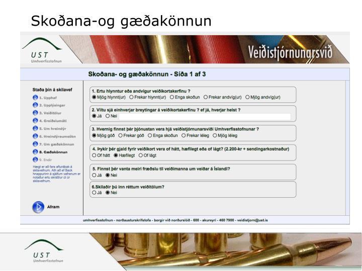 Skoðana-og gæðakönnun