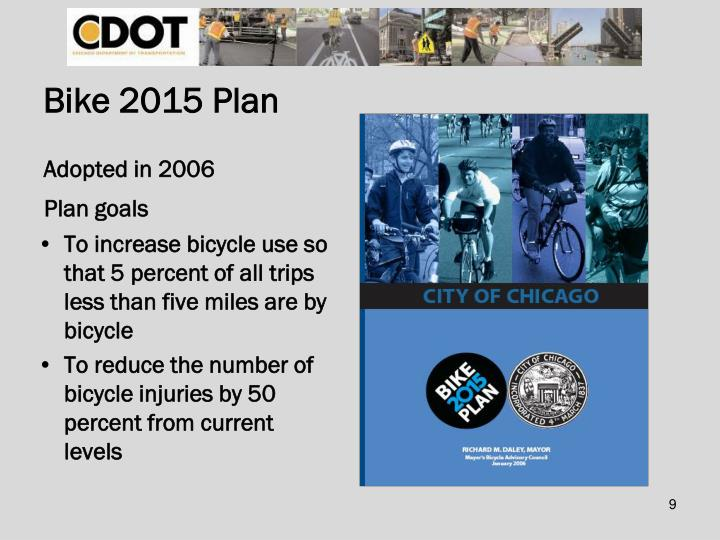 Bike 2015 Plan