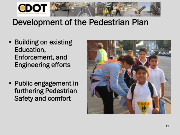Development of the Pedestrian Plan