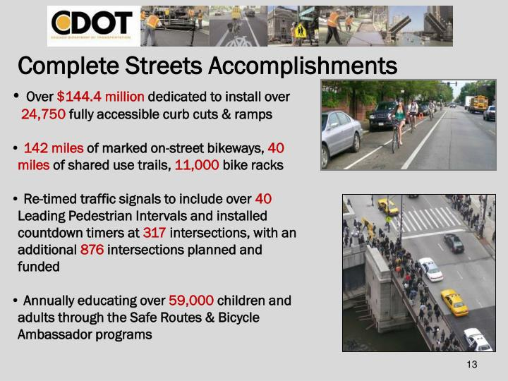 Complete Streets Accomplishments