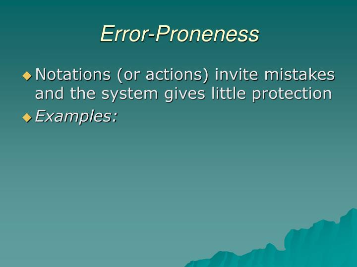 Error-Proneness