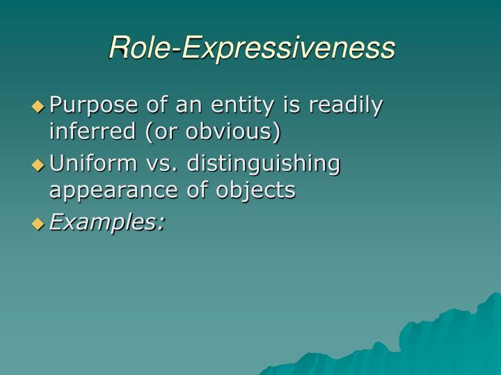 Role-Expressiveness