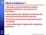 what is kallistos