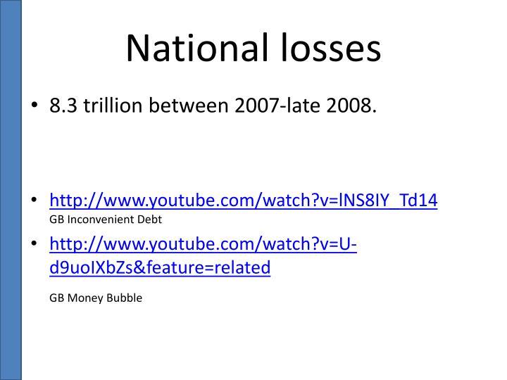 National losses