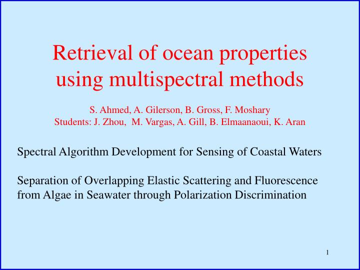 Retrieval of ocean properties