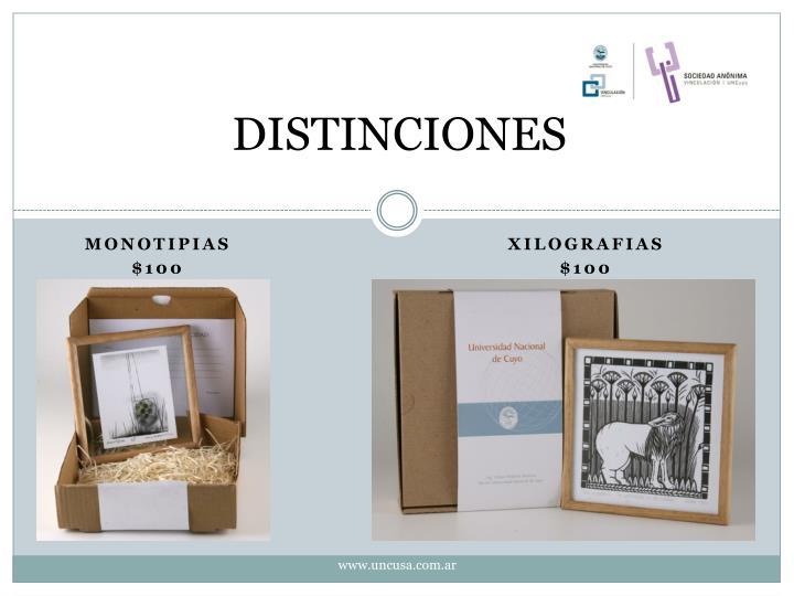 DISTINCIONES