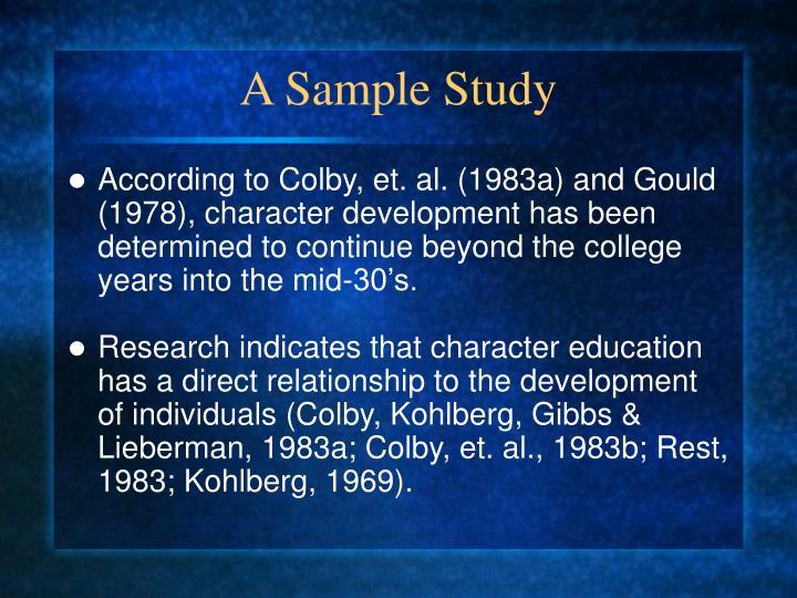 A Sample Study