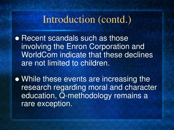 Introduction (contd.)