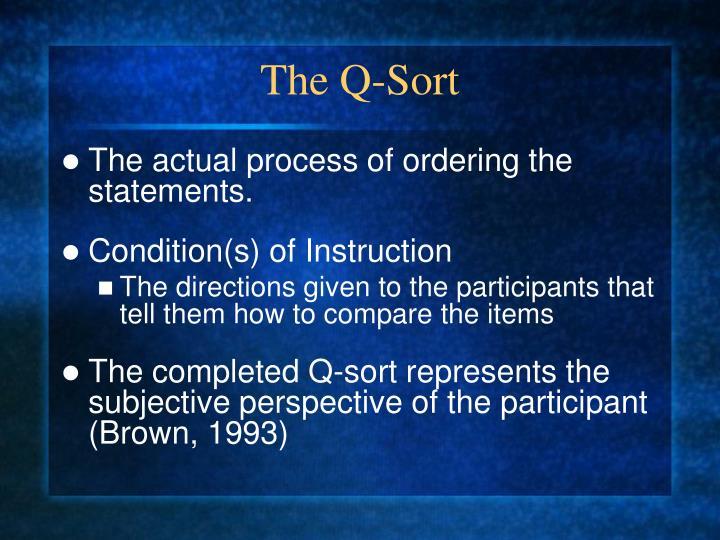 The Q-Sort