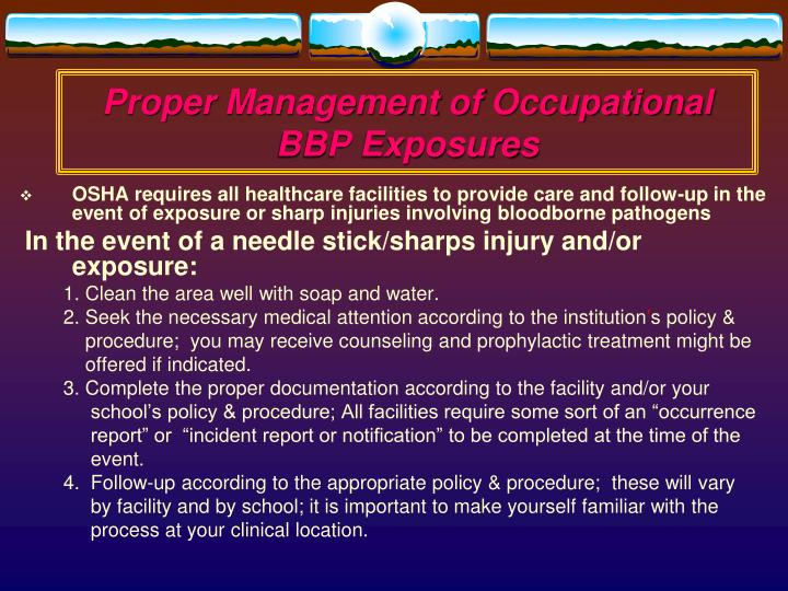 Proper Management of Occupational