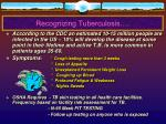 recognizing tuberculosis
