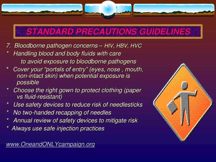 STANDARD PRECAUTIONS GUIDELINES