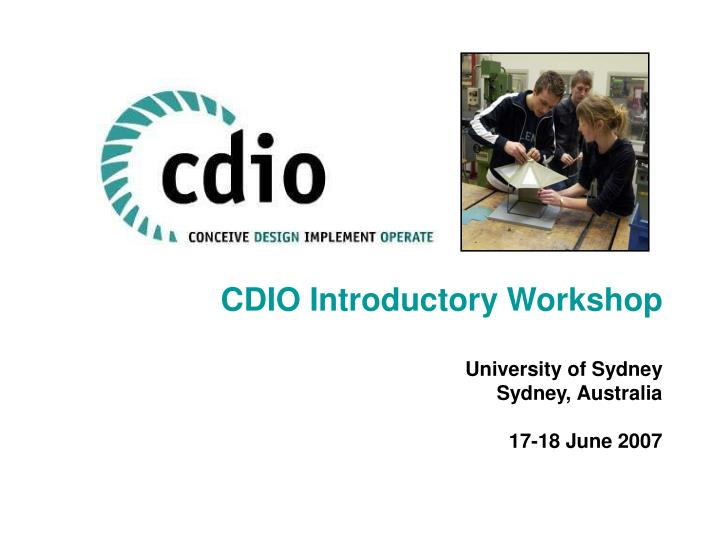 CDIO Introductory Workshop