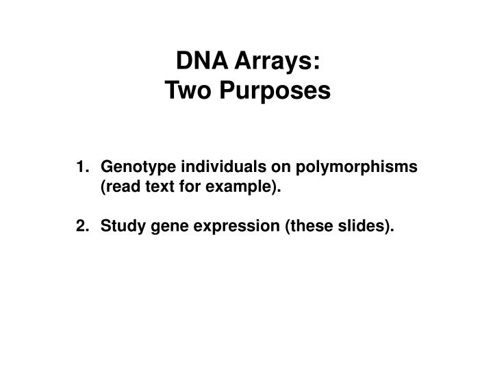 DNA Arrays: