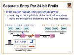 separate entry per 24 bit prefix