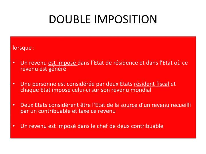 DOUBLE IMPOSITION