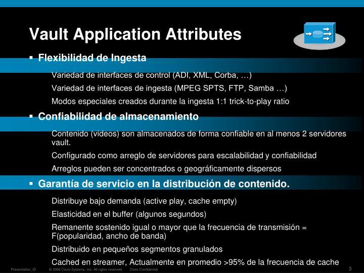 Vault Application Attributes