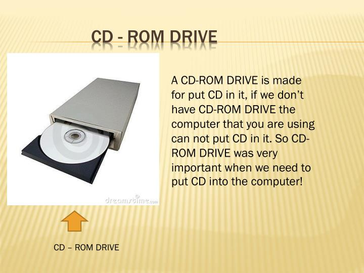 CD - rom drive