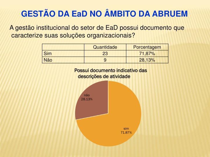 GESTÃO DA EaD NO ÂMBITO DA ABRUEM