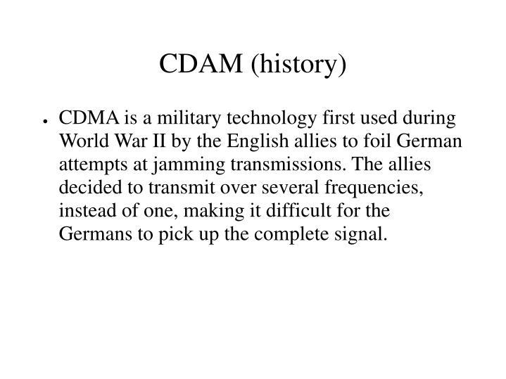 CDAM (history)