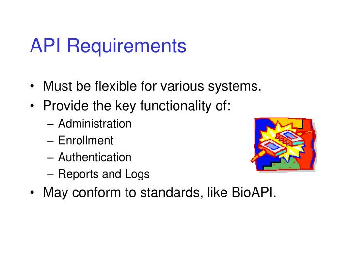 API Requirements
