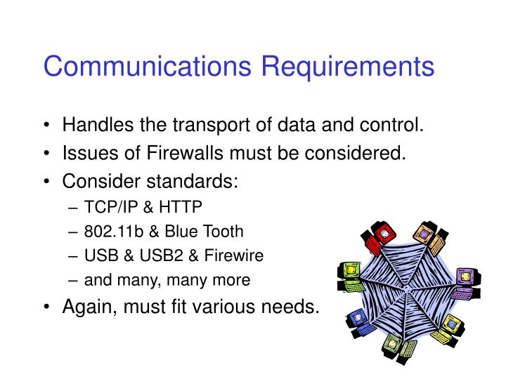 Communications Requirements