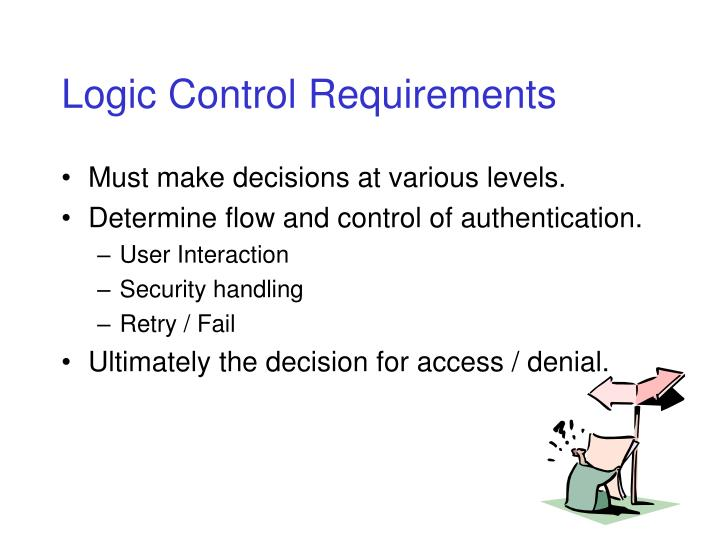 Logic Control Requirements