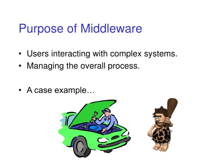 Purpose of Middleware