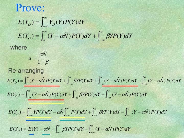 Prove: