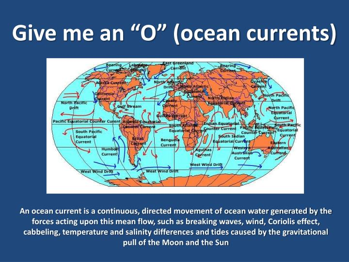 "Give me an ""O"" (ocean currents)"