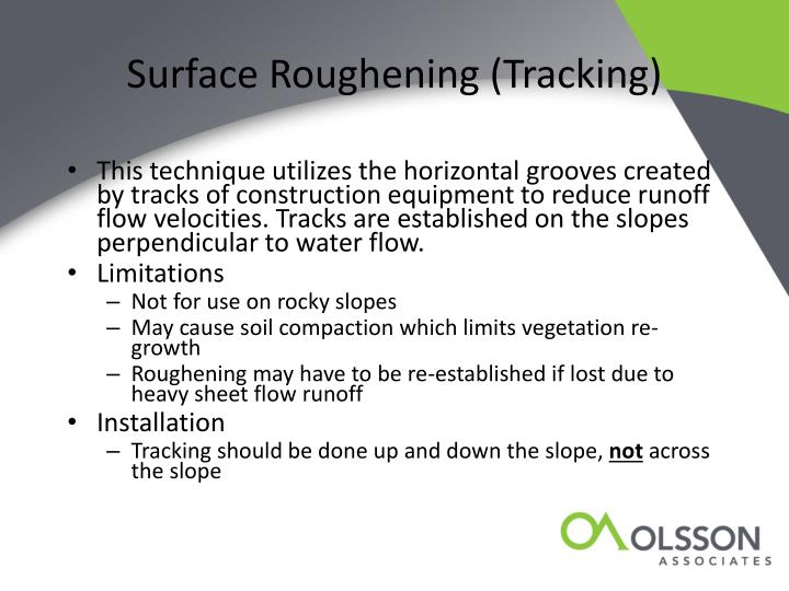 Surface Roughening (Tracking)