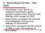 3 world relief partner nov 2010