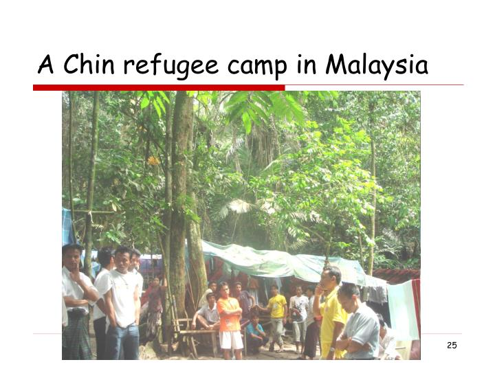 A Chin refugee camp in Malaysia