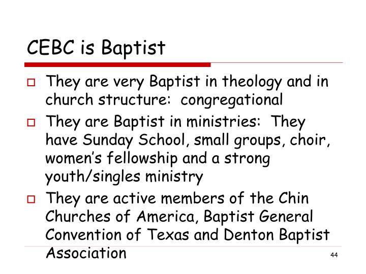 CEBC is Baptist