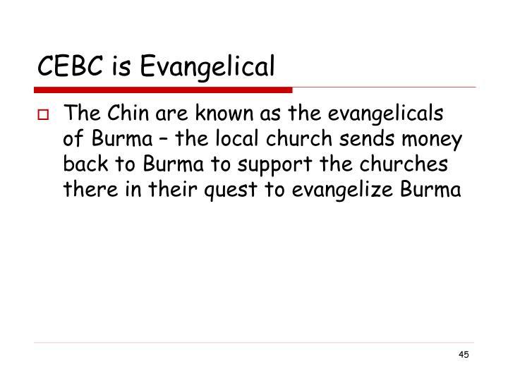 CEBC is Evangelical