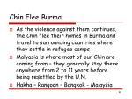 chin flee burma