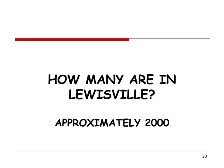 How Many Are In Lewisville?