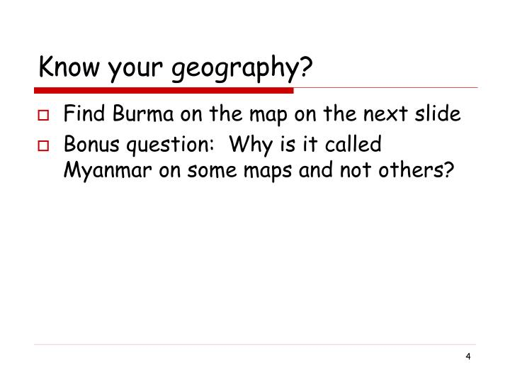 Know your geography?