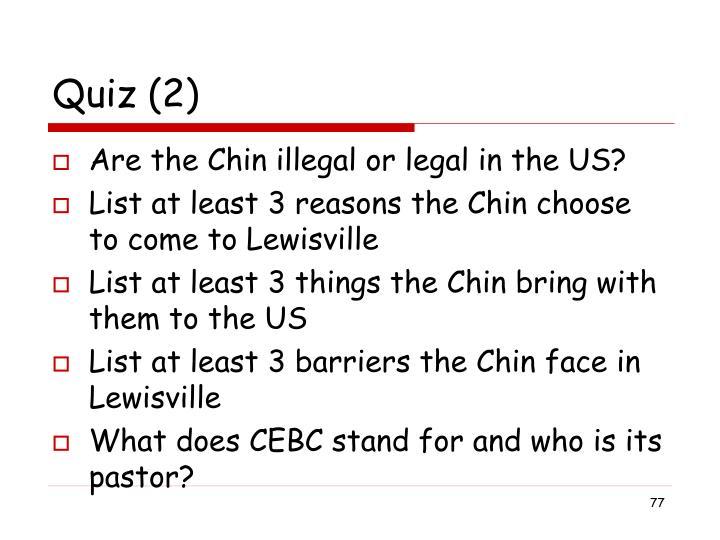 Quiz (2)