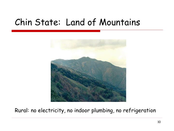Chin State:  Land of Mountains