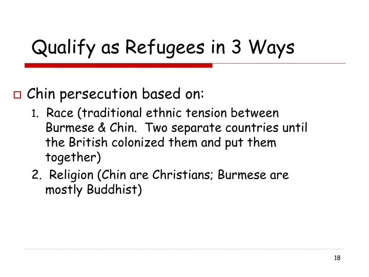 Qualify as Refugees in 3 Ways