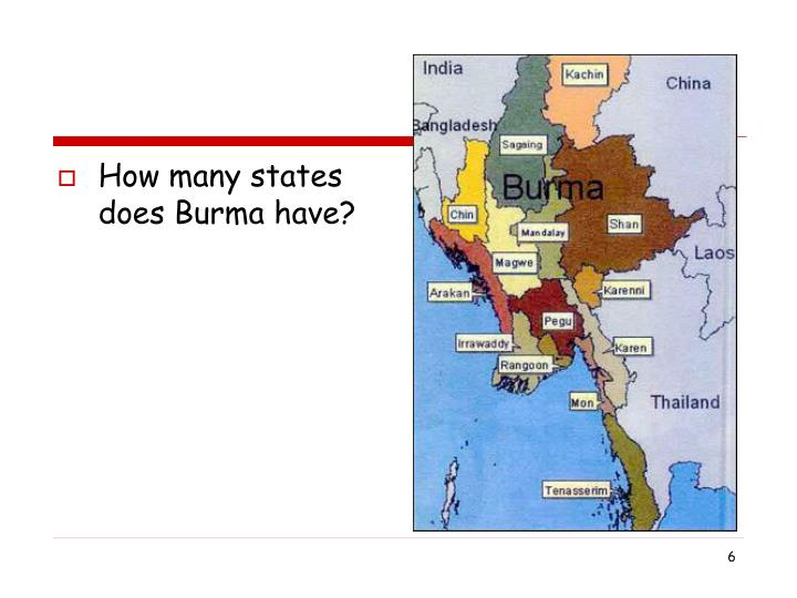 How many states does Burma have?