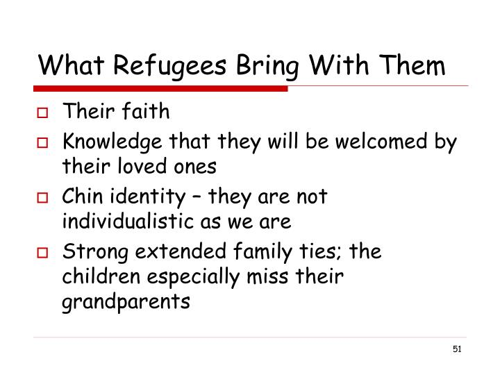 What Refugees Bring With Them