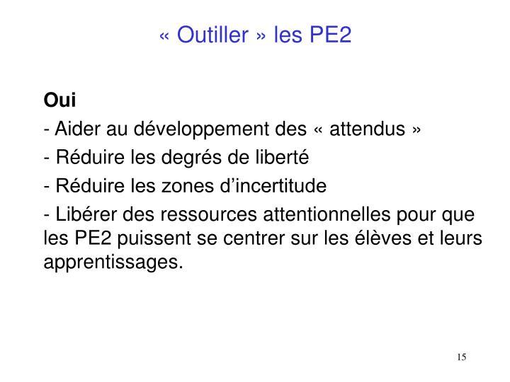 «Outiller» les PE2